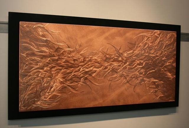 Featured Image of Abstract Copper Wall Art