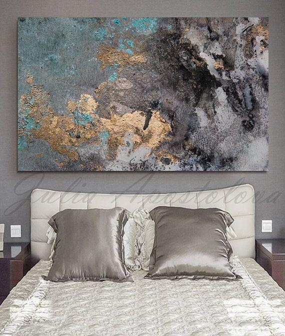 Wall Art Designs: Large Abstract Wall Art Abstract Aquarell Print Regarding Abstract Wall Art For Bedroom (Image 18 of 20)