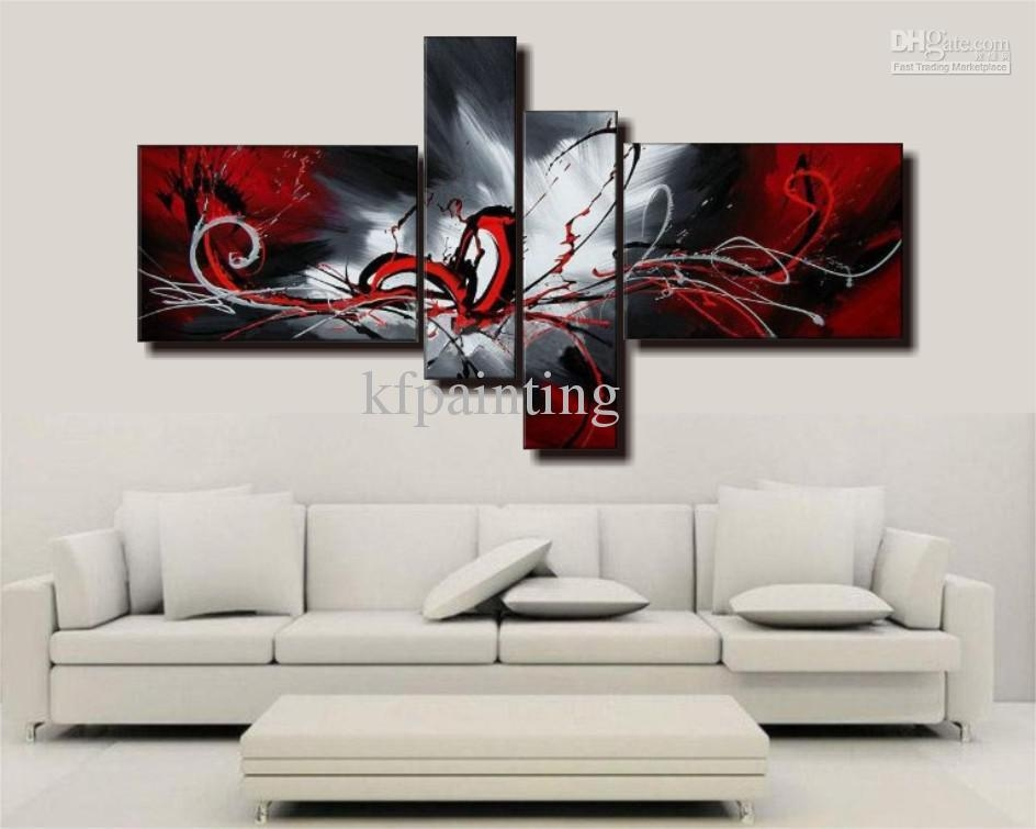 Wall Art Designs: Wall Canvas Art Handpainted Acrylic Abstract For Acrylic Abstract Wall Art (Image 20 of 20)