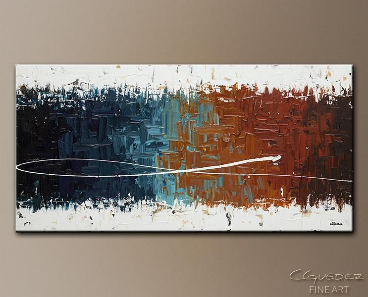 Wall Art Painting Good Feeling – Home Décor Abstract Art – Large For Large Abstract Wall Art (Image 20 of 20)