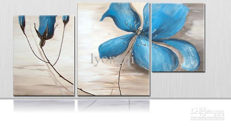 Wall Art: Top 10 Sample Images Blue Canvas Wall Art Blue Canvas Pertaining To Abstract Floral Wall Art (Image 20 of 20)