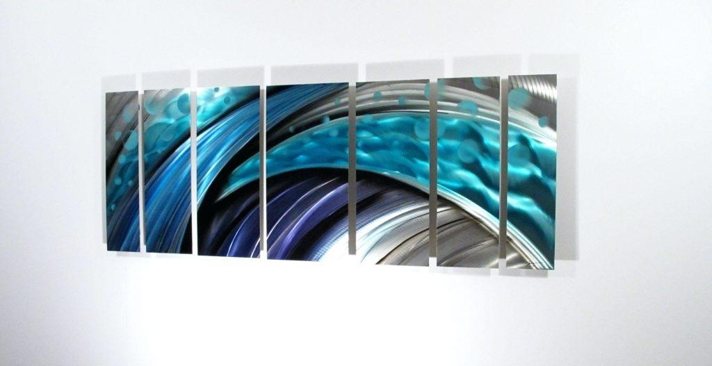 Wall Arts ~ Dark Blue Abstract Wall Art Modern Abstract Metal Wall With Dark Blue Abstract Wall Art (Image 19 of 20)