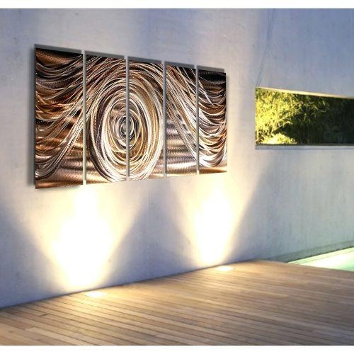 Wall Arts ~ Eternal Swirl Metal Wall Art Metal Wall Art Abstract Throughout Abstract Angkor Swirl Metal Wall Art (Image 13 of 20)