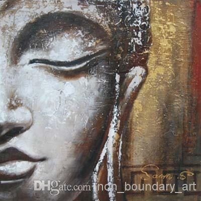 Wholesale Oil Wall Art,hand Painting,wall Canvas Art,religion Pertaining To Abstract Buddha Wall Art (View 12 of 20)