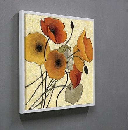 Wood Framed Abstract Flower Canvas Art Wall,canvas Wall Art,canvas With Regard To Abstract Flower Wall Art (View 17 of 20)