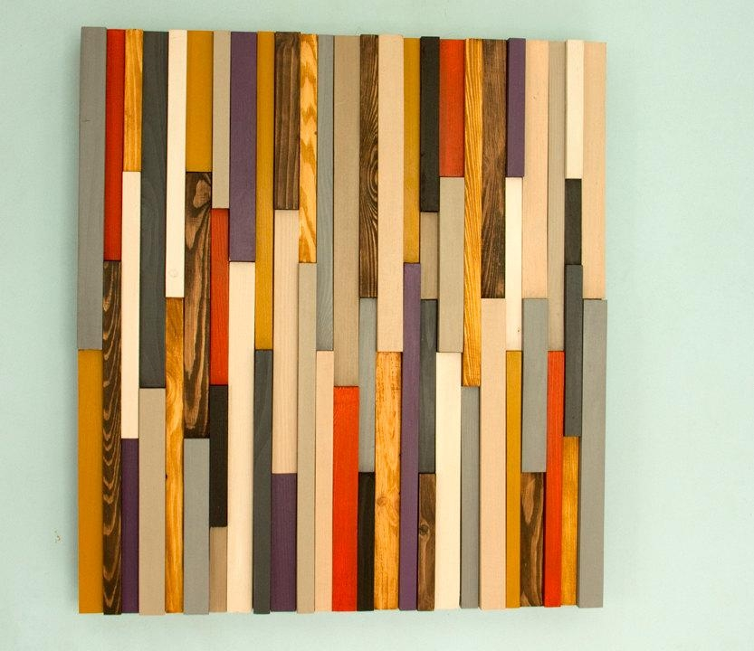 Wood Wall Art Sculpture 3D Abstract Wood Sculpture, Reclaimed Wall In Sculpture Abstract Wall Art (Image 20 of 20)
