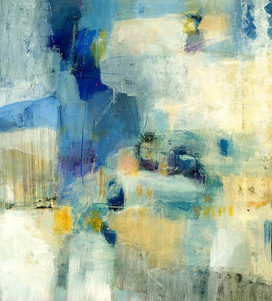Yellow And Blue Abstract Wall Art For Blue Canvas Abstract Wall Art (View 15 of 20)