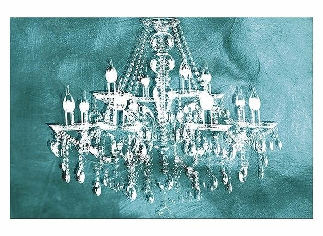 1 Panel Modern Painting Canvas Art Crystal Chandelier Pattern In Chandelier Canvas Wall Art (Image 1 of 20)