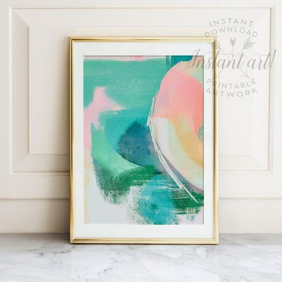 10 Best Abstract Art Printables & Prints Images On Pinterest With Regard To Printable Abstract Wall Art (Image 1 of 20)