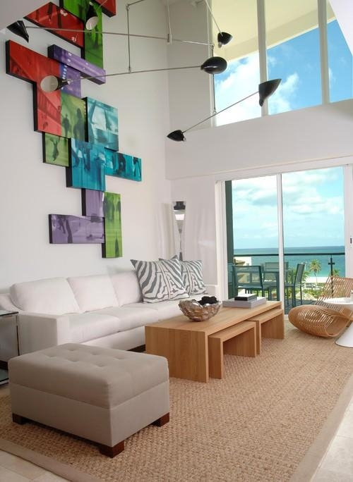10 Decorating Ideas For Tall Walls Pertaining To Houzz Abstract Wall Art (Image 1 of 20)
