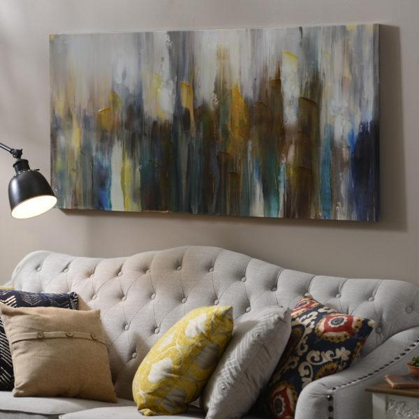 10 Ideas For Decorating Over The Couch – My Kirklands Blog Throughout Kirklands Canvas Wall Art (Image 1 of 20)