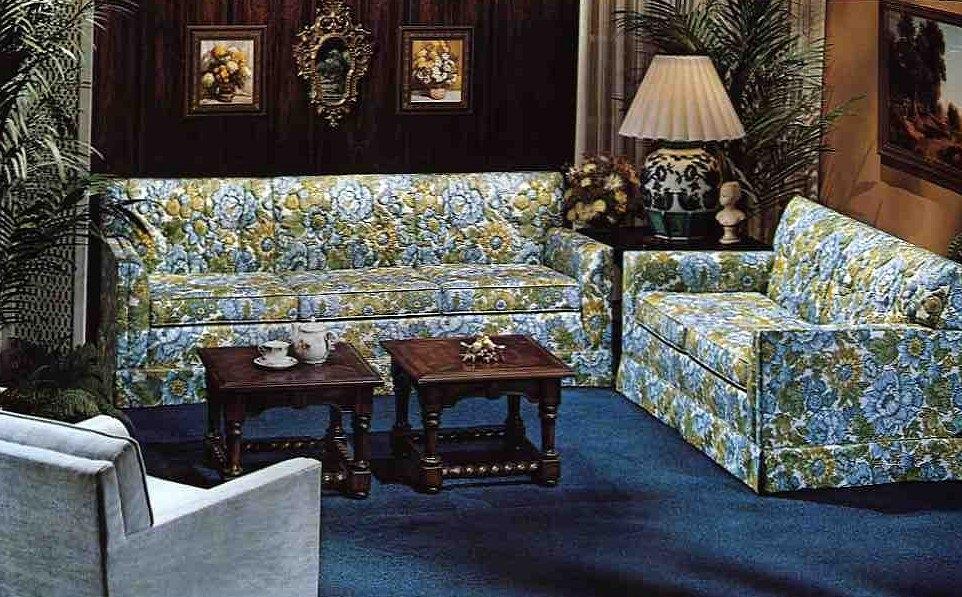 10 Kroehler Sofas And Loveseats From 1976 Retro Renovation Chintz Within Chintz Sofas (Image 1 of 10)