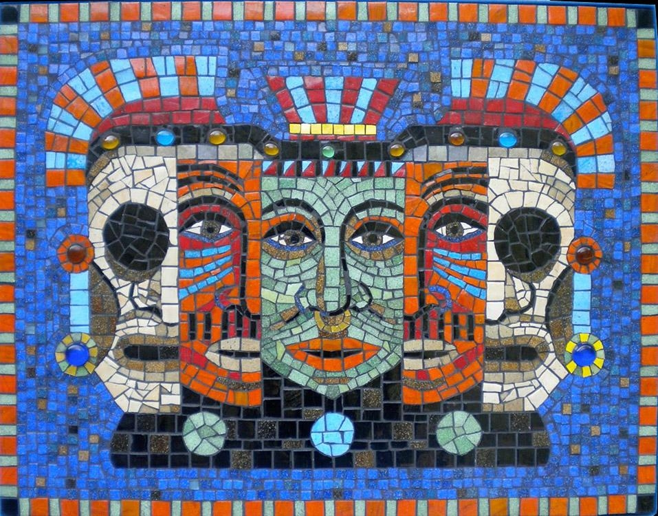 10 Must Know Ethnic Mosaic Artworks | Abstract Portrait, Mosaics With Abstract Mosaic Wall Art (View 9 of 20)