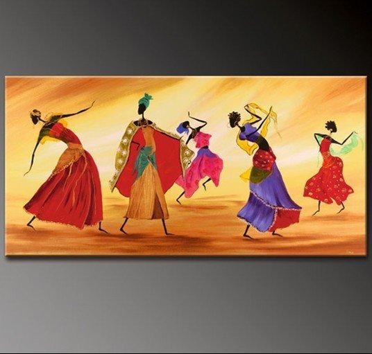 100% Hand Painted Free Ship Oil Painting Decorative Painting Dance Regarding Dance Canvas Wall Art (Image 1 of 20)