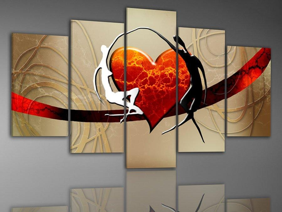 100% Hand Painted Oil Painting On Canvas Pictures Frame Color Intended For Abstract Landscape Wall Art (Image 1 of 20)