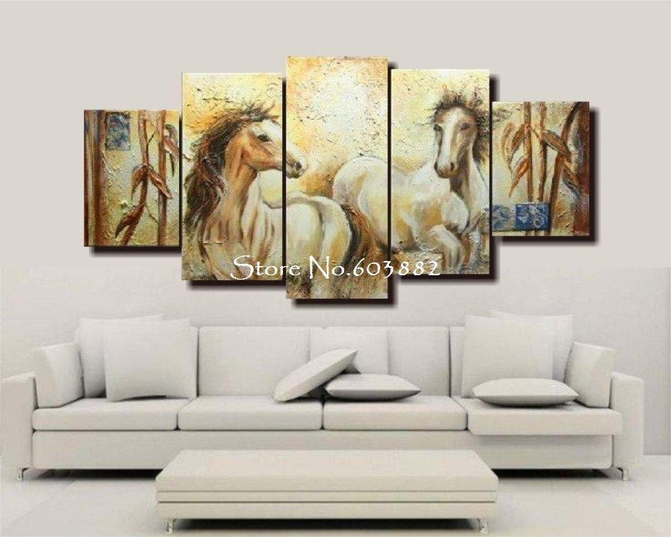 100% Handmade Unframed Abstract Horse Canvas Painting Canvas Art For Horses Canvas Wall Art (Image 1 of 20)