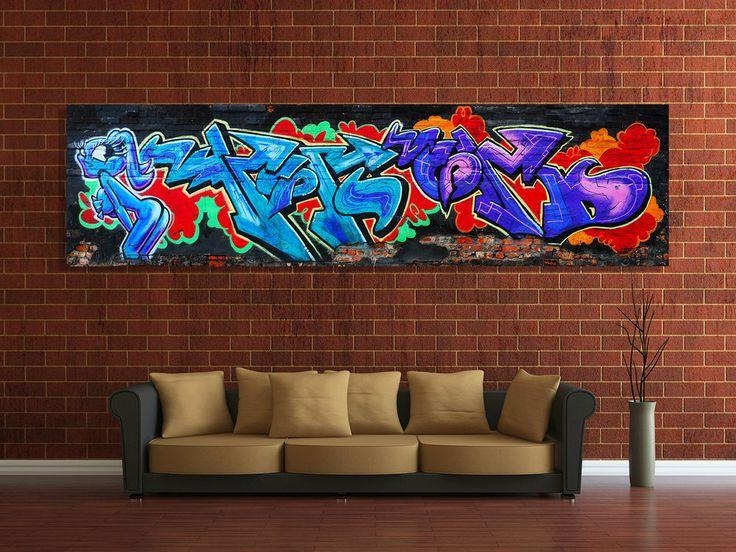 103 Best Graffiti & Wall Coverings Images On Pinterest | Graffiti Throughout Graffiti Canvas Wall Art (Image 1 of 20)