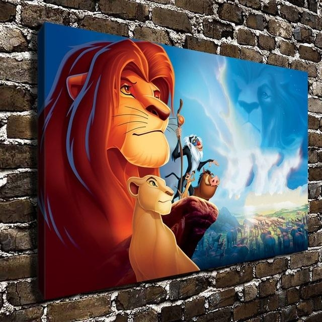 10500 The Lion King Simba Children Cartoon Film, Hd Canvas Print With Regard To Lion King Canvas Wall Art (Image 1 of 20)