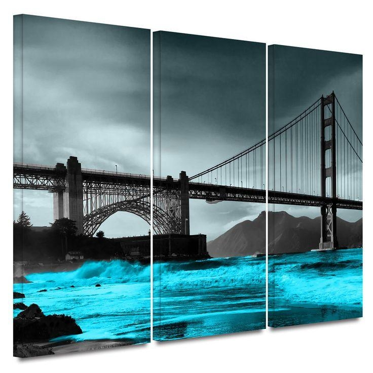 11 Best Home Wall Art Images On Pinterest | Painted Canvas Inside Golden Gate Bridge Canvas Wall Art (Image 1 of 20)