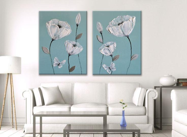 11 Best Japanese Oriental Flower Paintings On Canvas Images On With Canvas Wall Art Pairs (View 12 of 20)