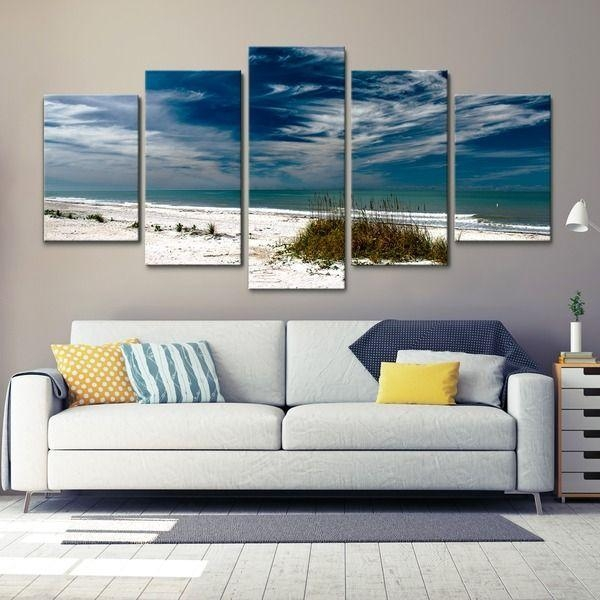 110 Best Quadros Compostos Images On Pinterest | Frames, Canvas Regarding Canvas Wall Art Beach Scenes (Image 1 of 20)