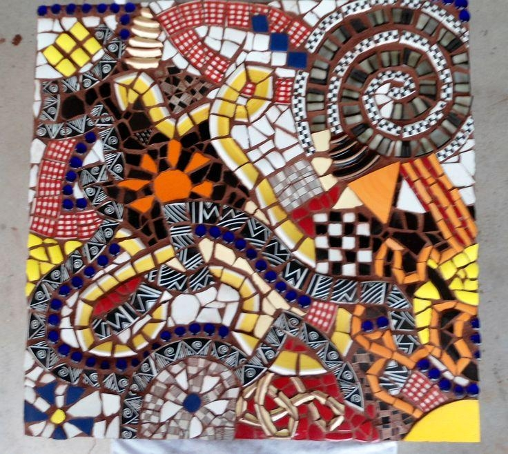 111 Best Abstrat Images On Pinterest | Mosaic Art, Mosaic Ideas Within Abstract Mosaic Art On Wall (Image 3 of 20)