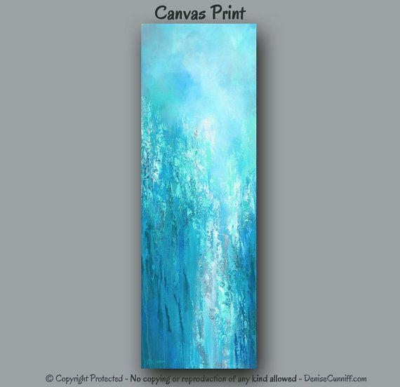 111 Best Art & Paintings – Teal, Turquoise – Community Board Intended For Long Abstract Wall Art (View 17 of 20)