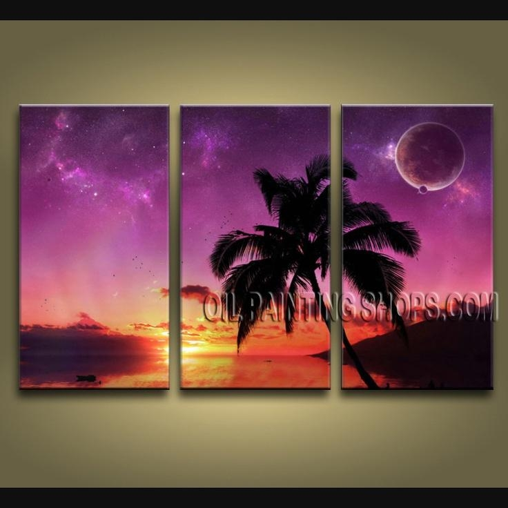 12 Best Seascape Paintings – Hawaii Beach Scene Images On Intended For Hawaii Canvas Wall Art (Image 1 of 20)