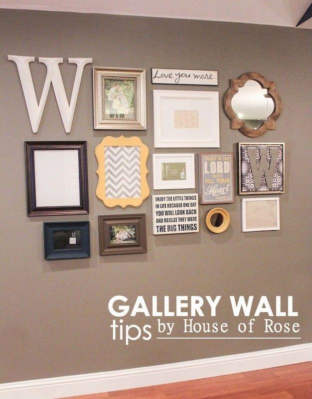 12 Creative Gallery Walls For Inspiration | Gallery Wall, Mirror Inside Letters Canvas Wall Art (Image 1 of 20)