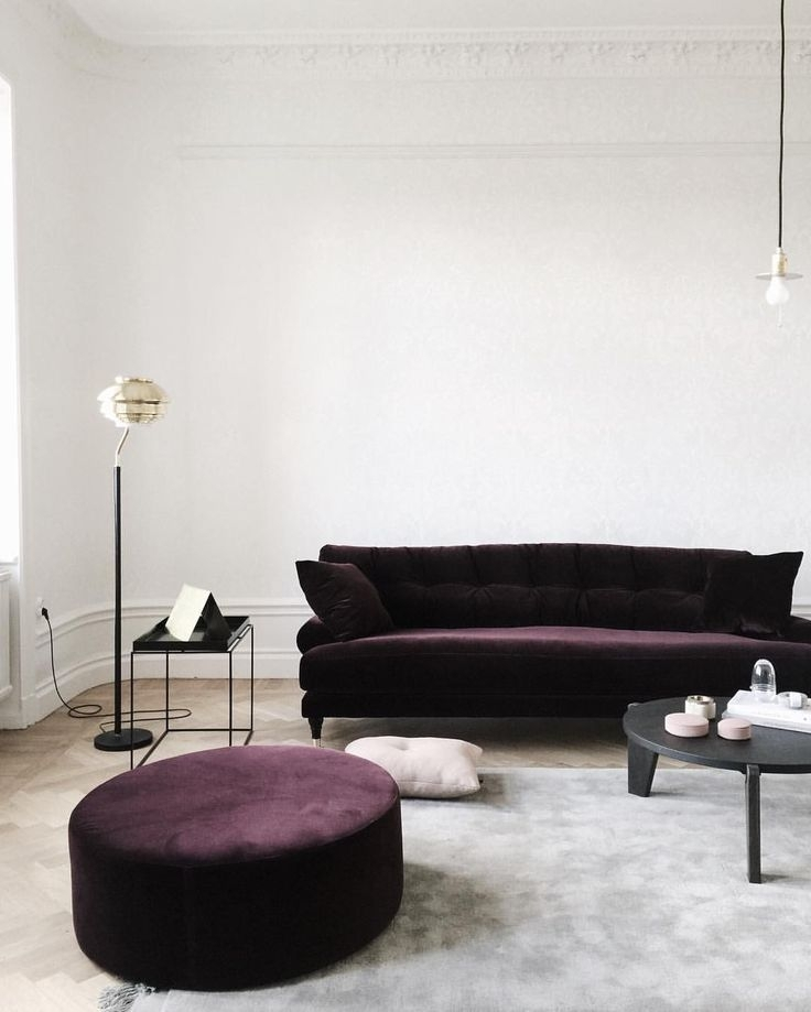 12 Royally Purple Velvet Sofas For The Living Room In Velvet Purple Sofas (Image 1 of 10)
