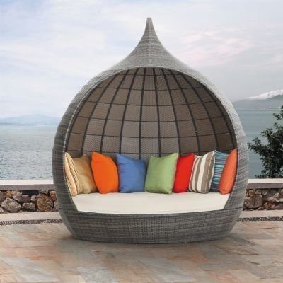 122 Best Outdoor Chaise Lounges Images On Pinterest | Chaise Lounge With Regard To Outdoor Sofas With Canopy (Image 1 of 10)