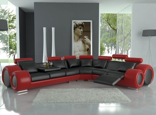 133) Fancy – Franco Bonded Leather Sectional Sofatosh Furniture In Fancy Sofas (Image 1 of 10)