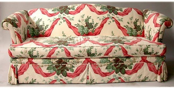 1336 Chintz Sofa Nr Sofa Has One Long Cush Lot 1336 Fabric Chintz Pertaining To Chintz Fabric Sofas (Image 1 of 10)