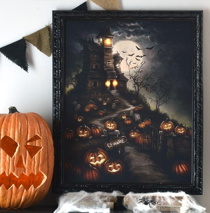 134 Best Lighted Canvas Art Images On Pinterest | Canvas Art Inside Halloween Led Canvas Wall Art (Image 2 of 20)