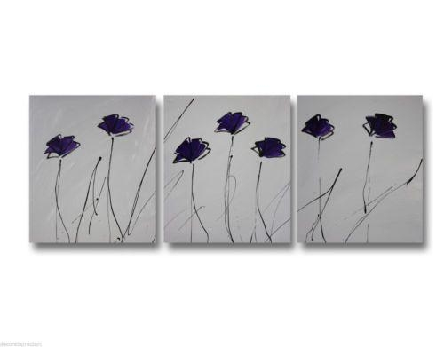 14 Best Purple And Grey Art Images On Pinterest | Canvas Paintings Within Purple And Grey Abstract Wall Art (Image 1 of 20)