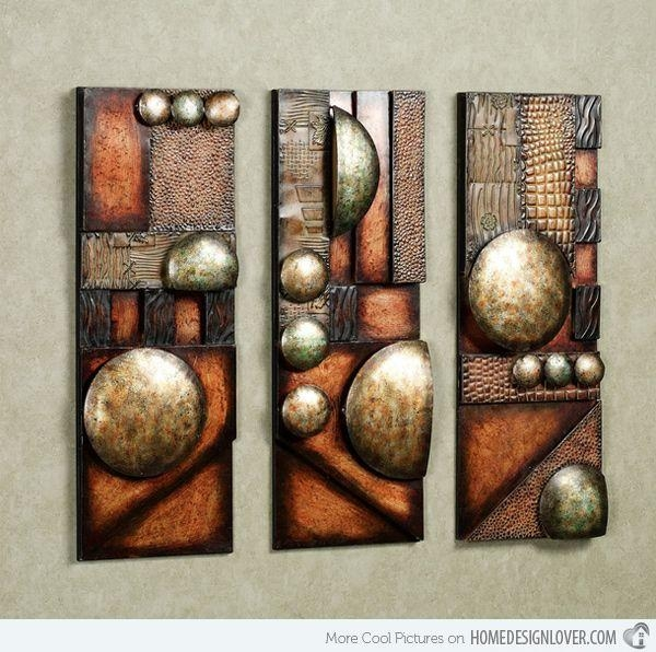 20 Collection of Geometric Modern Metal Abstract Wall Art | Wall Art ...