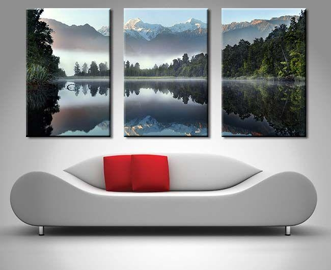 153 Best 3 Panel Wall Art Canvas Images On Pinterest | 3 Piece Art In Mountains Canvas Wall Art (Image 1 of 20)