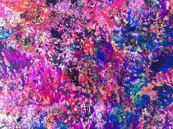163 Best Original Artlaura Saint Cyr Images On Pinterest Pertaining To Abstract Neon Wall Art (View 8 of 20)