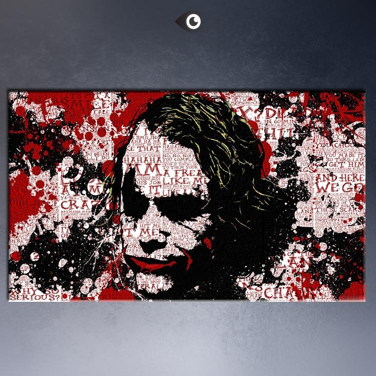 16X28, 20X32 Inches Print The Joker 5 Movie Poster Picture With Joker Canvas Wall Art (View 9 of 20)