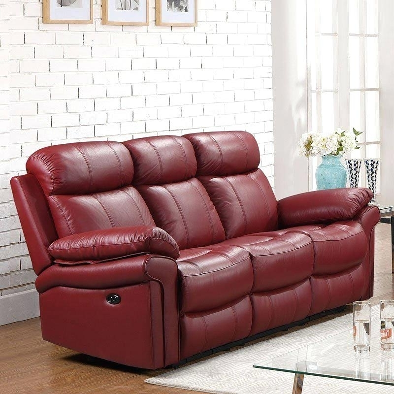 17 Collection Of Red Leather Reclining Sofas And Loveseats For Red Leather Reclining Sofas And Loveseats (Photo 10 of 10)