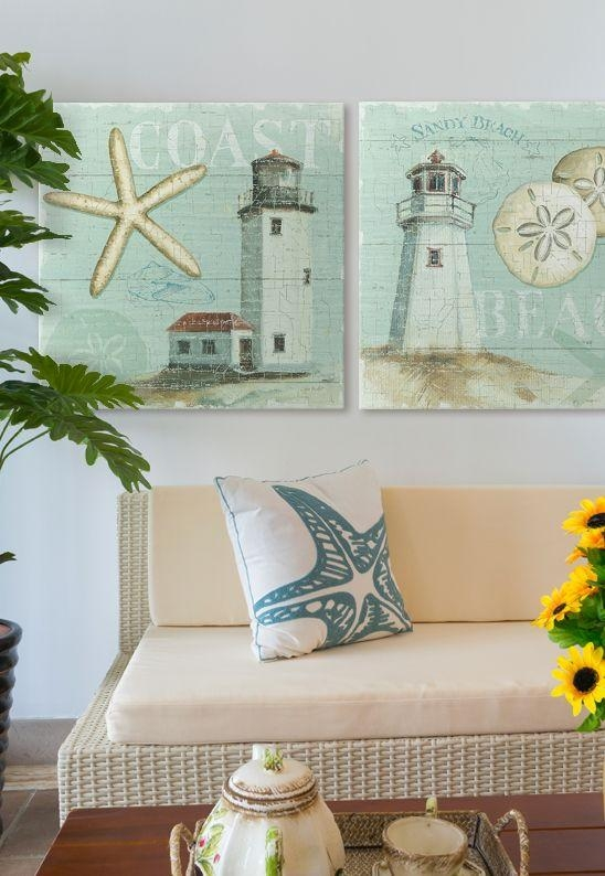 174 Best Beach And Coastal Art & Decor Images On Pinterest With Beach Themed Canvas Wall Art (Image 2 of 20)