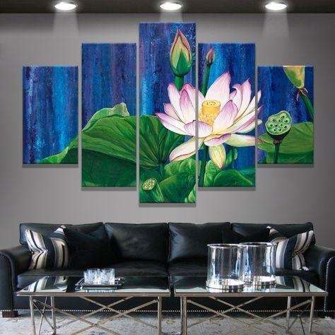 18 Best Lotus Painting Images On Pinterest | Lotus Painting Within Malaysia Canvas Wall Art (Image 1 of 20)