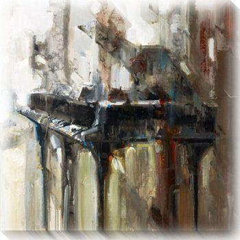 181 Best ❤ Art | Music Images On Pinterest | Art Music, Music Throughout Abstract Piano Wall Art (Image 2 of 20)