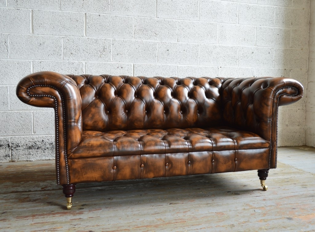 1857 Leather Chesterfield Sofa | Abode Sofas With Vintage Chesterfield Sofas (Image 1 of 10)