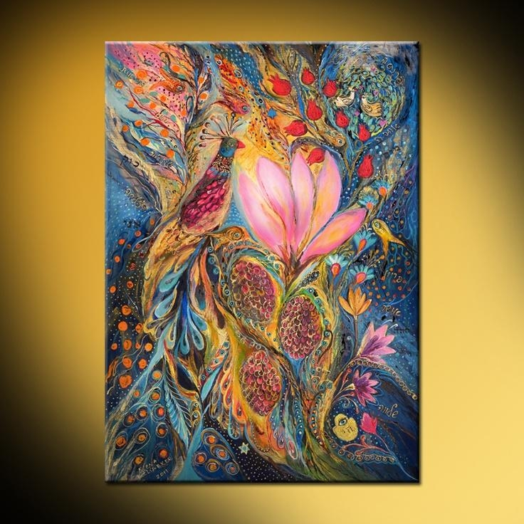 19 Best Elana Kotliarker Faves Images On Pinterest | Pintura Within Jewish Canvas Wall Art (View 16 of 20)