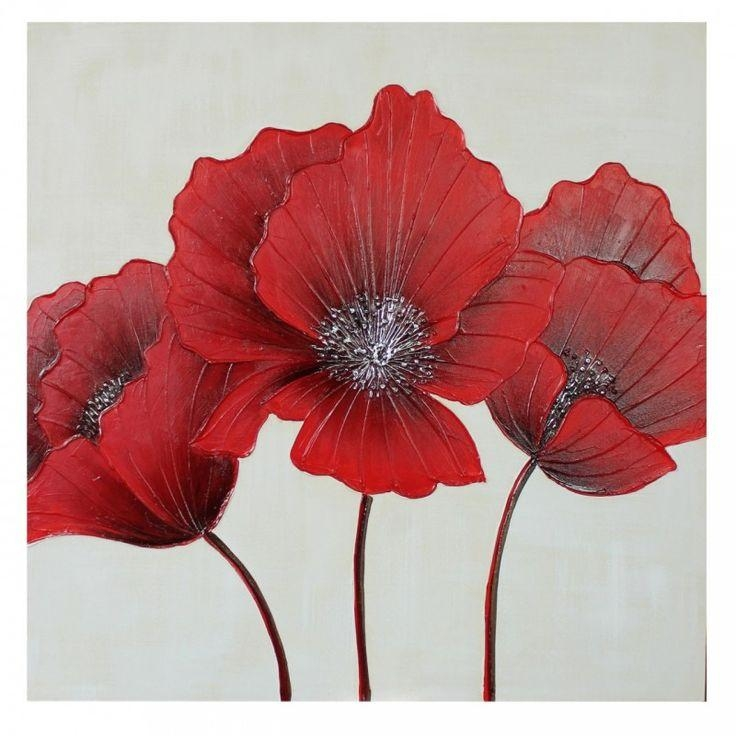 19 Best Winter Warms & Cools Images On Pinterest | Tea Candle In Poppies Canvas Wall Art (Image 1 of 20)