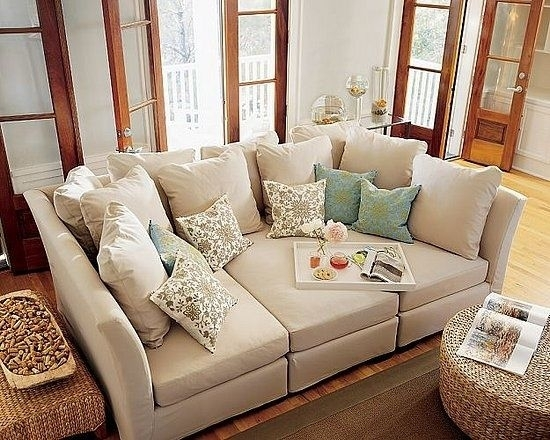 19 Couches That Ensure You'll Never Leave Your Home Again | Deep With Regard To Wide Seat Sectional Sofas (Image 1 of 10)