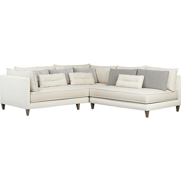 2 Piece Armless Sectional Sofa Throughout Armless Sectional Sofas (Image 1 of 10)