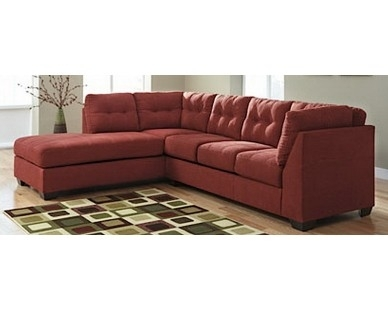 2 Piece Contemporary Sectional In Red – Sam Levitz Furniture | Home Regarding Sam Levitz Sectional Sofas (Image 1 of 10)