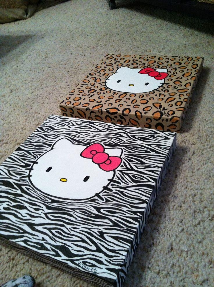 20 Best Canvas Art Images On Pinterest | Canvas Ideas, Canvas Art Intended For Hello Kitty Canvas Wall Art (Photo 7 of 20)